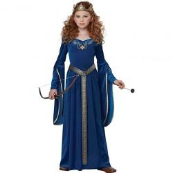Fantasia Infantil Meninas Princesa Medieval Halloween Carnaval Festa