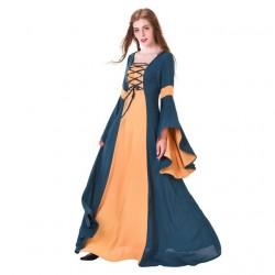 Fantasia Adulto Feminina Mulher Medieval Vitoriana Halloween Cosplay Festa