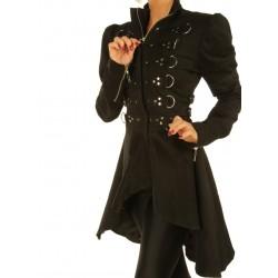 Fantasia Feminina Steampunk Casaco Cosplay Festa Halloween Importada