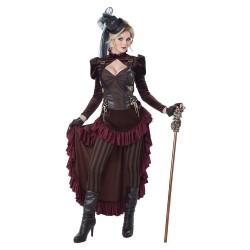 Fantasia Feminina Adulto Vitoriana Steampunk Cosplay Halloween Carnaval