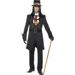 Fantasia Masculina Adulto Steampunk Cosplay Halloween Carnaval