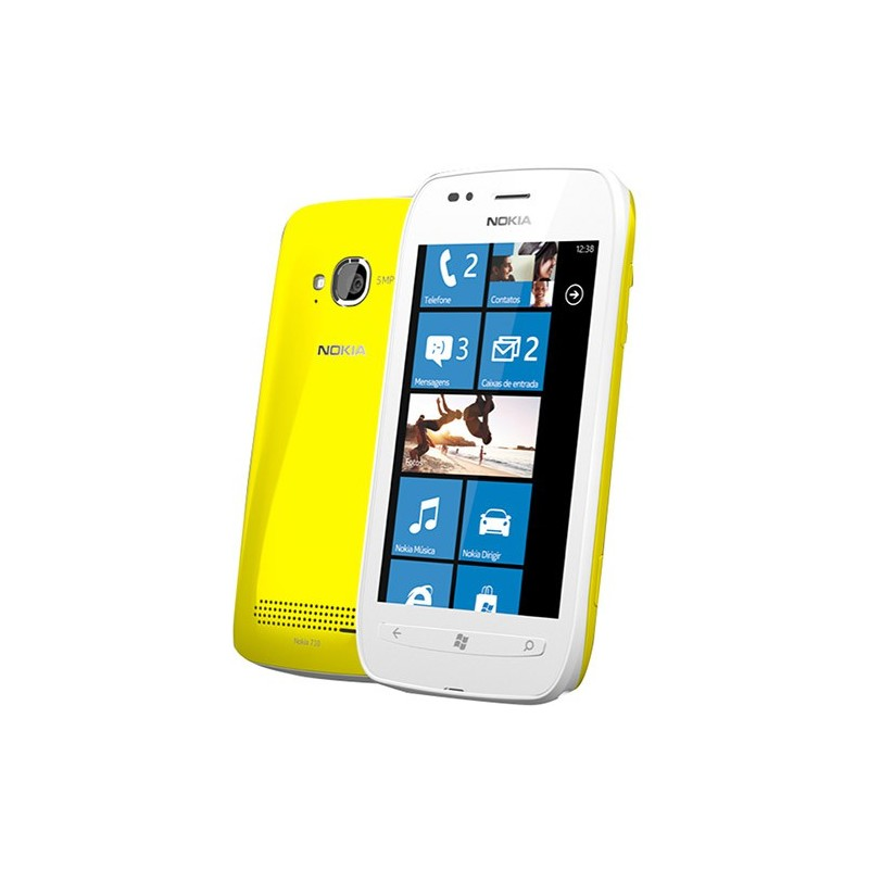 Nokia Lumia 710 Branco / Amarelo - Smartphone Windows Phone 7.5 3G Wi-Fi Câmera 5MP GPS