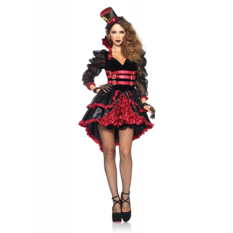 Fantasia Feminina Vampira Vitoriana Cosplay Halloween Carnaval