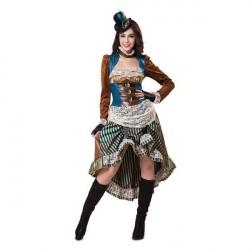 Fantasia Feminina Senhorita Vitoriana Cosplay Halloween Carnaval