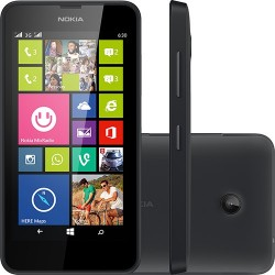 Smartphone Nokia Lumia 630 Dual Chip Preto Windows 8.1 3G 5MP 8GB GPS TV Digital