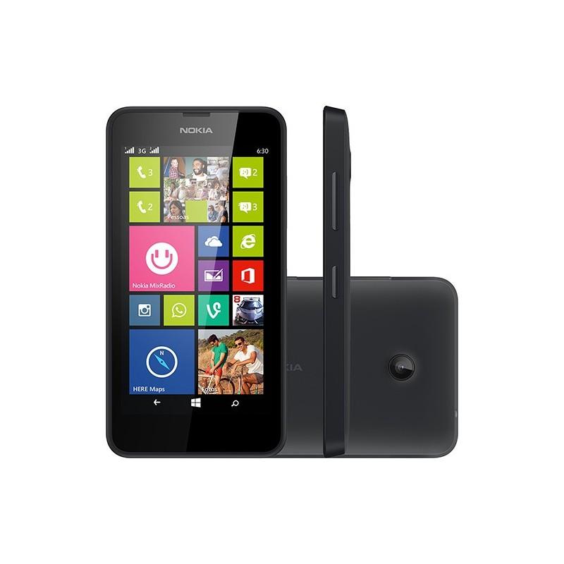 Smartphone Nokia Lumia 630 Dual Chip Preto Windows 8.1 3G 5MP 8GB GPS TV Digital
