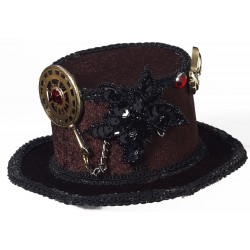 Mini Top Hat Chapéu Steampunk Feminino Fantasia Cosplay Halloween Carnaval