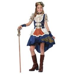 Fantasia Infantil Meninas Steampunk Halloween Carnaval Cosplay