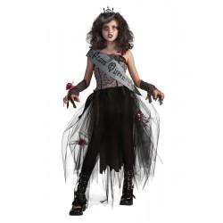 Fantasia Infantil Rainha da Beleza Gótica Halloween Carnaval Festa Importada