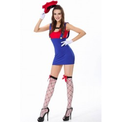 Fantasia Adulto Feminina Super Mario Sexy Carnaval Halloween Cosplay
