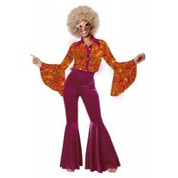 Fantasia Feminina Anos 80 Diva Disco Halloween Carnaval