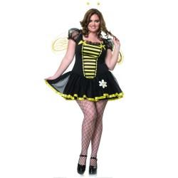 Fantasia Feminina Anos 80 Abelha Sexy Plus Size Halloween Carnaval