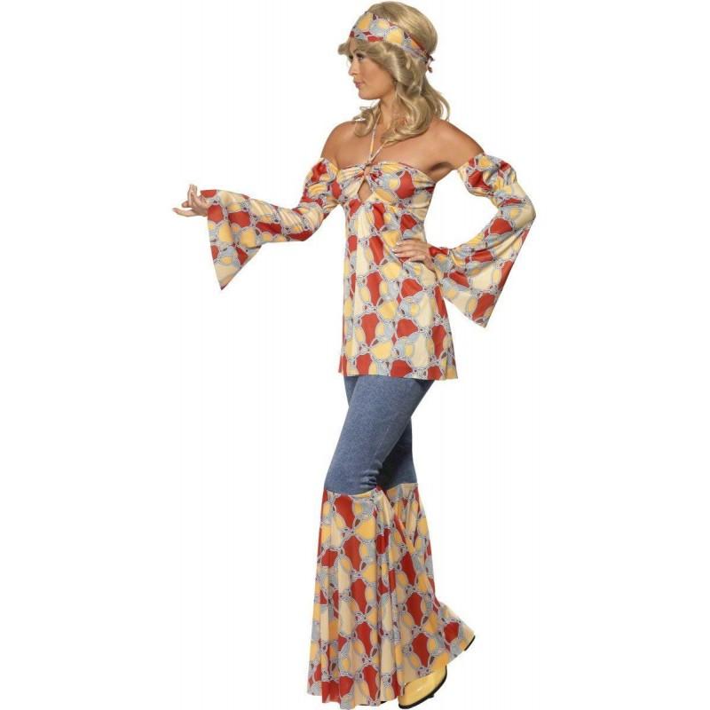 Fantasia Feminina Disco Anos 70 Halloween Carnaval