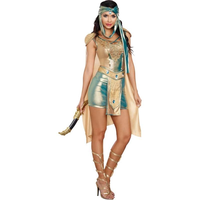 Fantasia Feminina Adulto Rainha Guerreira Scorpion Luxo Halloween Carnaval
