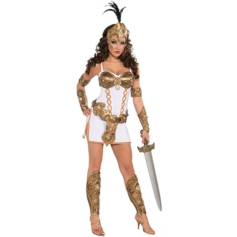 Fantasia Feminina Adulto Rainha Guerreira Luxo Halloween Carnaval