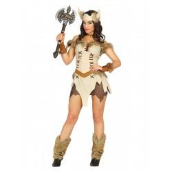 Fantasia Feminina Adulto Rainha Guerreira Viking Halloween Carnaval