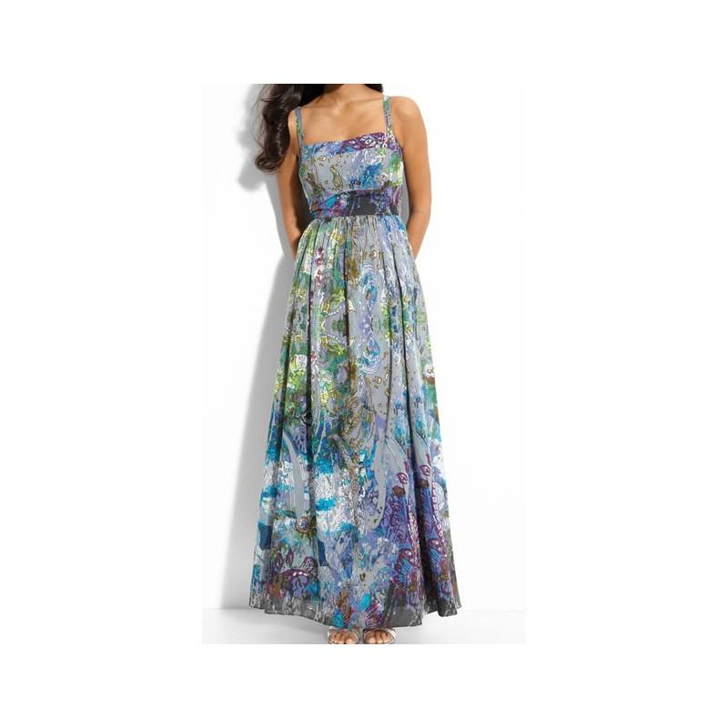 Vestido Longo Maxi Dress Alcinha Estampado