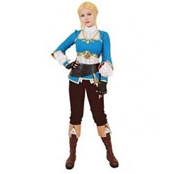 Fantasia Feminina Adulto Princesa Zelda Cosplay Halloween Carnaval