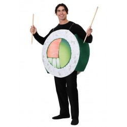 Fantasia Divertida Adulto Sushi Halloween Carnaval