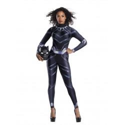 Fantasia Feminina Adulto Panteira Negra Halloween Carnaval
