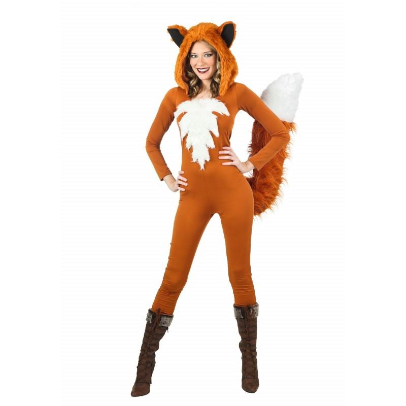 Fantasia Adulto Feminina Raposa Sexy Fox Halloween Carnaval