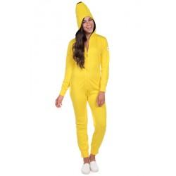 Fantasia Adulto Feminina Banana Macacão Halloween Carnaval