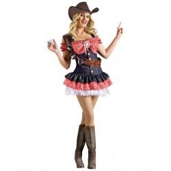 Fantasia Adulto Feminina Sheriff Sexy Halloween Carnaval