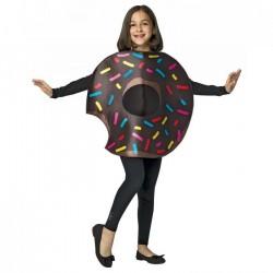Fantasia Infantil Donuts de Chocolate Halloween Carnaval Dia das Bruxas