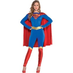 Fantasia Feminina Supergirl Heroína Halloween Carnaval Dia das Bruxas