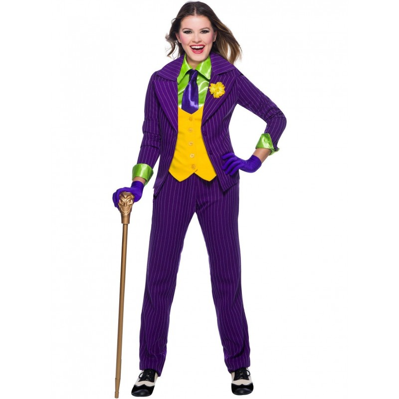Fantasia Feminina Adulto Coringa Halloween Carnaval Importada