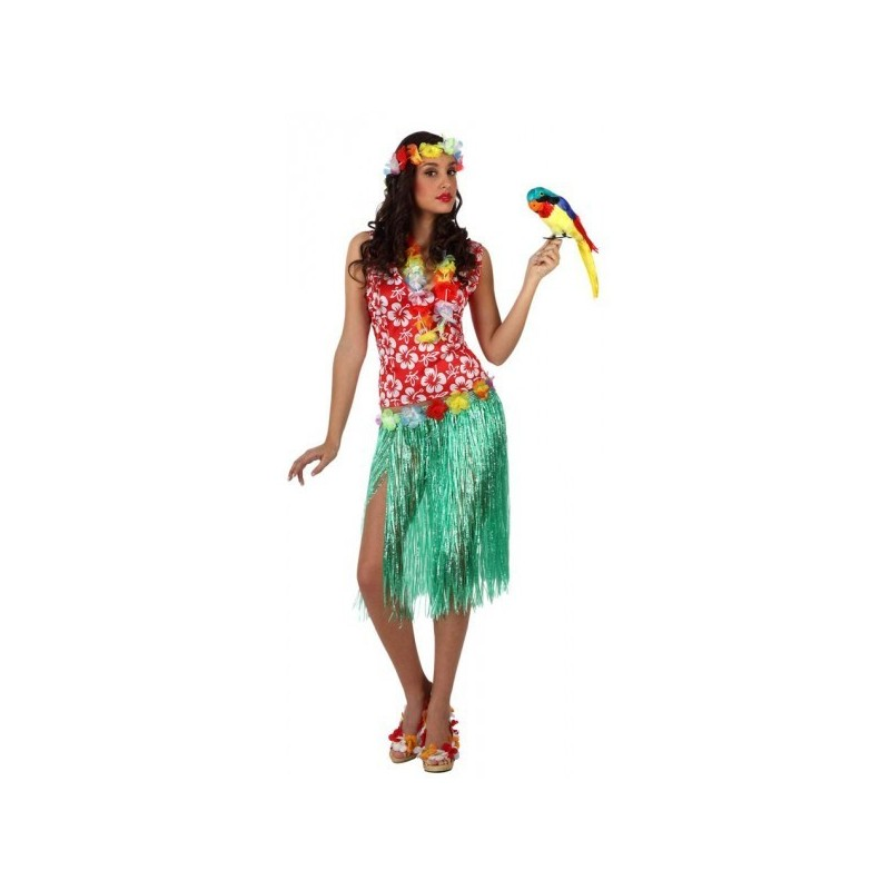 Fantasia Feminina Havaiana Tropical Carnaval Festa a Fantasia Halloween