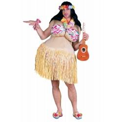 Fantasia Adulto Masculina Cômica Havaiana Ukulele Festa do Havai Carnaval