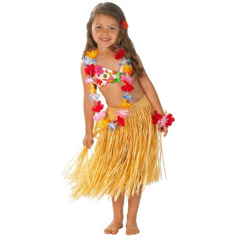 Fantasia Infantil Menina Havaiana Festa Havaí Carnaval