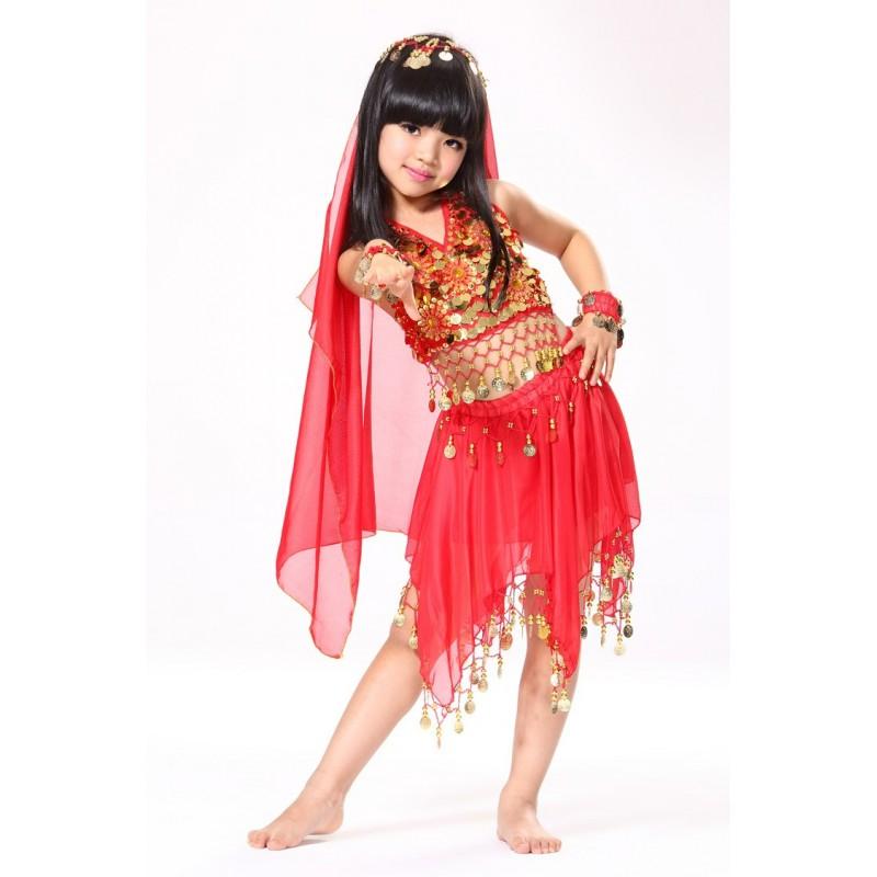 Fantasia Infantil Meninas Dançarina Odalisca Carnaval Halloween