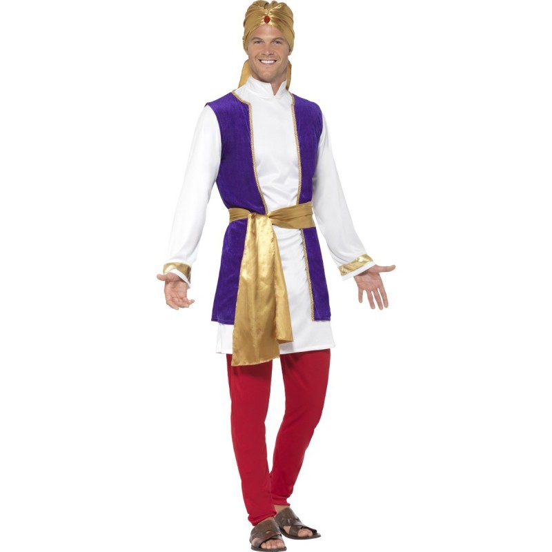 Fantasia Masculina Sultão Príncipe Árabe Carnaval Halloween