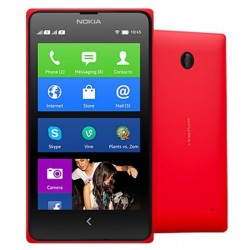"Nokia X Android 4.1 WCDMA Dual-core Bar Telefone w / 4.0 ""Screen, Wi-Fi e Bluetooth - Preto + Vermelho"