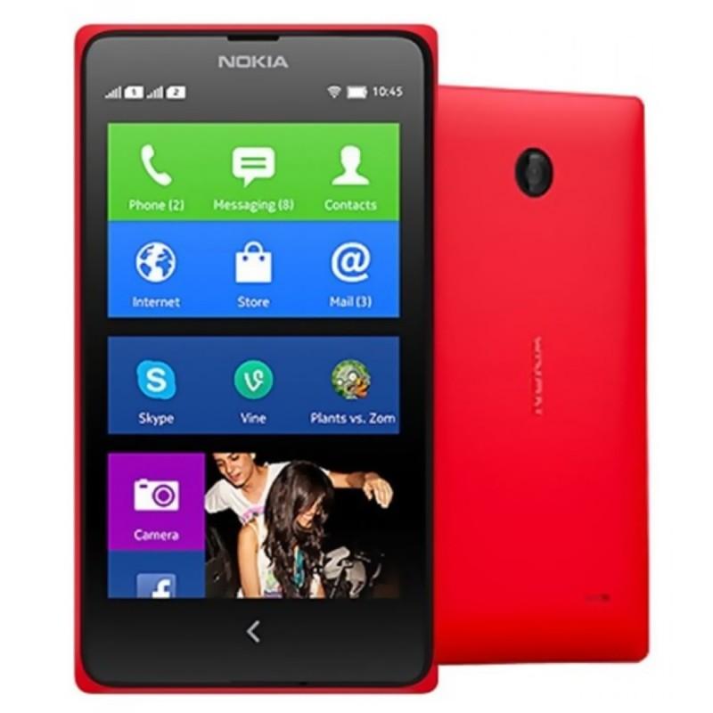 """Nokia X Android 4.1 WCDMA Dual-core Bar Telefone w / 4.0 """"Screen, Wi-Fi e Bluetooth - Preto + Vermelho"""