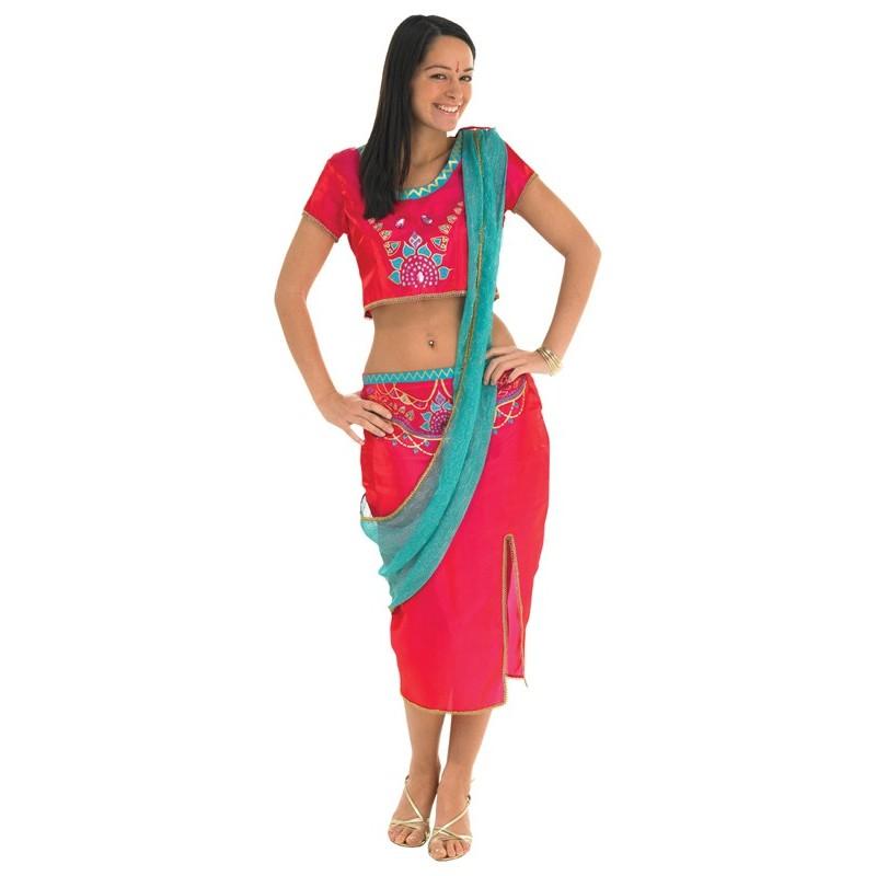 Fantasia Feminina Indiana Hindu Bollywood Carnaval Halloween