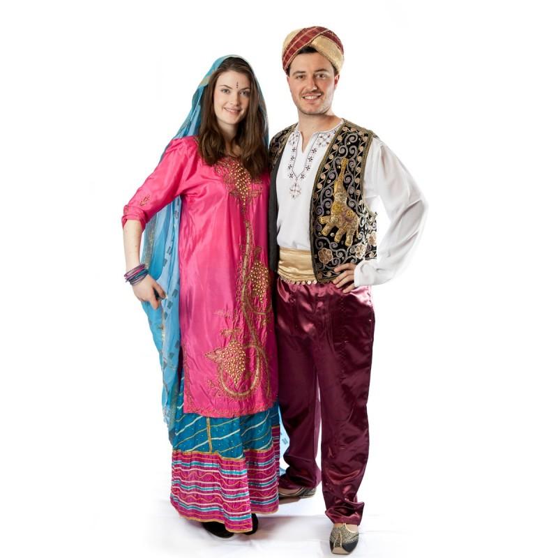 Fantasia Casal Adulto Bollywood Indianos Carnaval Halloween Festa