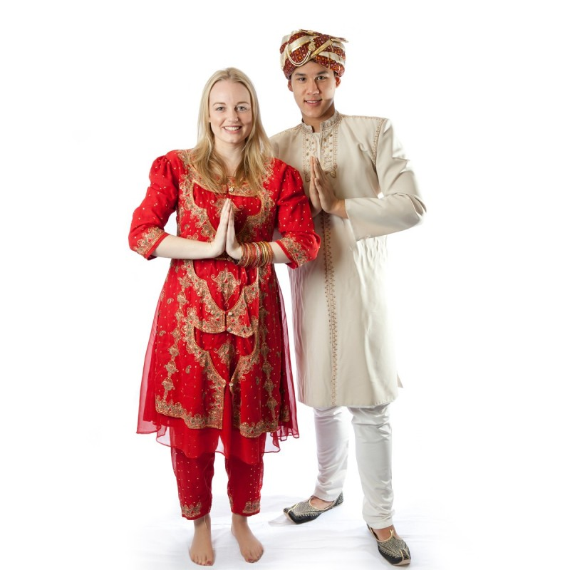 Fantasia Adulto Casal Indiano Bollywood Carnaval Halloween Festa