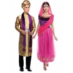 Fantasia Casal Adulto Indiano Bollywood Carnaval Halloween