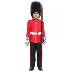 Fantasia Infantil Meninos Guarda Real Londres Halloween Carnaval