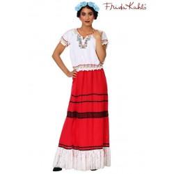 Fantasia Feminina Frida Kahlo Halloween Carnaval