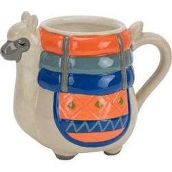 Caneca Cerâmica Desenho Lhama Decorativa