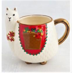 Linda Caneca Cerâmica e Formato de Lhama Pintura a Mão Decorativa