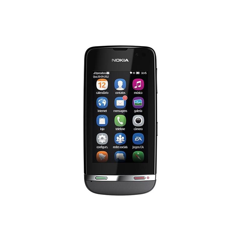 Smartphone Nokia Asha 311 Cinza Câmera de 3.2 MP Processador de 1GHz 3G Wi-Fi