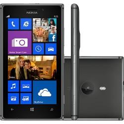 "Smartphone Nokia Lumia 925 Preto Memória 16 GB Wi-Fi 4G Tela HD 4.5"" Windows Phone 8 Câmera 8.7MP GPS"
