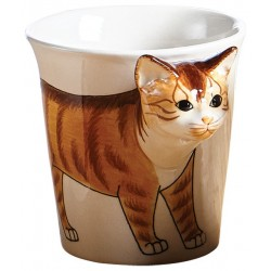 Caneca Gato Alto Relevo Decorativa Cat Lovers