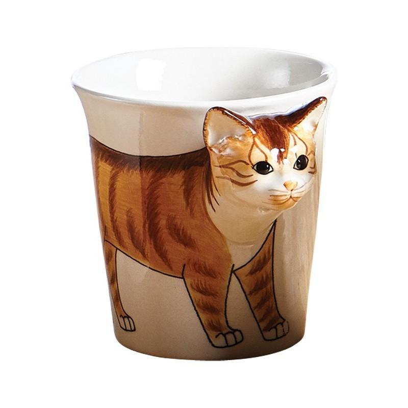 Caneca Gato Alto Relevo Decorativa Cat Lovers
