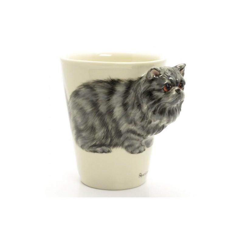 Caneca Cerâmica Gato Persa em  Alto Relevo Cat Lovers